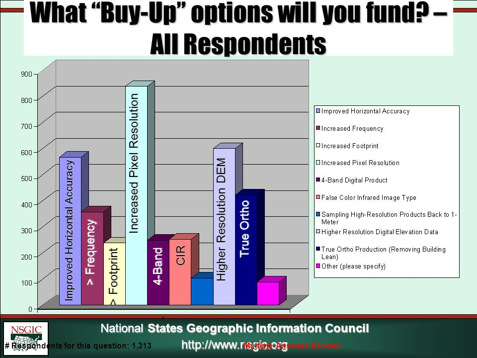 National States Geographic Information Council http://www.nsgic.org What Buy-Up options will you fund.