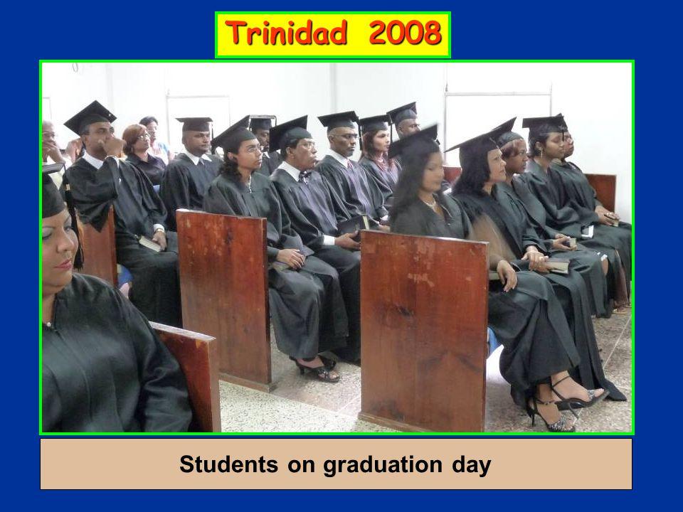 Students on graduation day Trinidad 2008