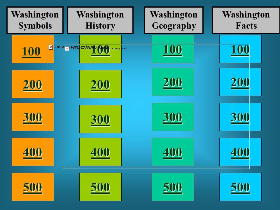 Washington State WASHINGTON STATE