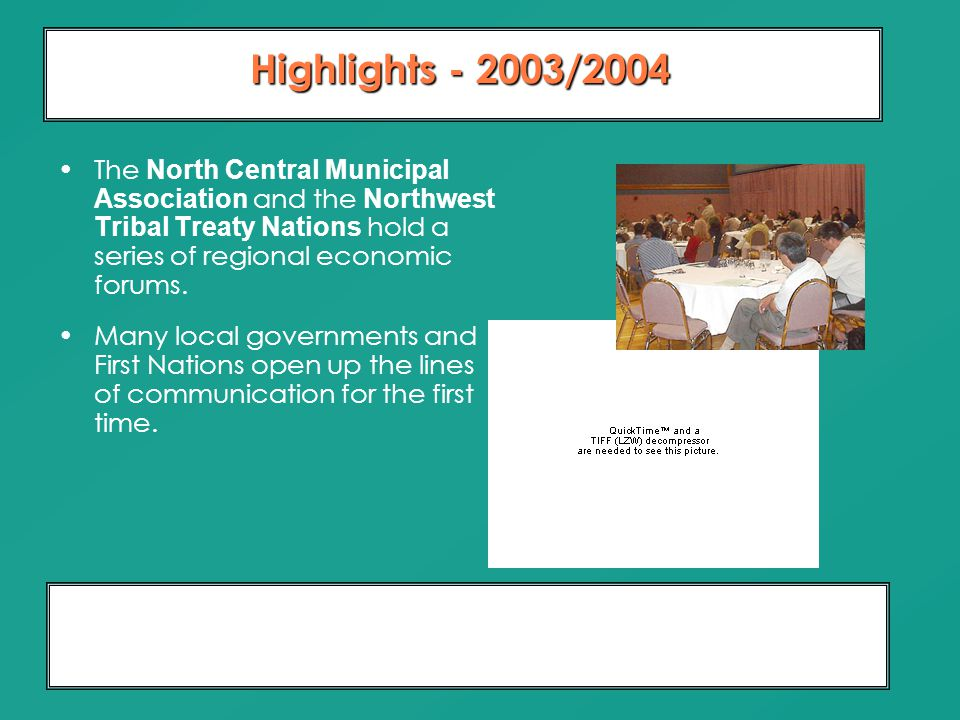 Moving From Dialogue To Partnership 10 Years of Relationship Building The North Central Municipal Association and the Northwest Tribal Treaty Nations