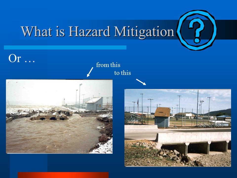What is Hazard Mitigation Or … from this to this