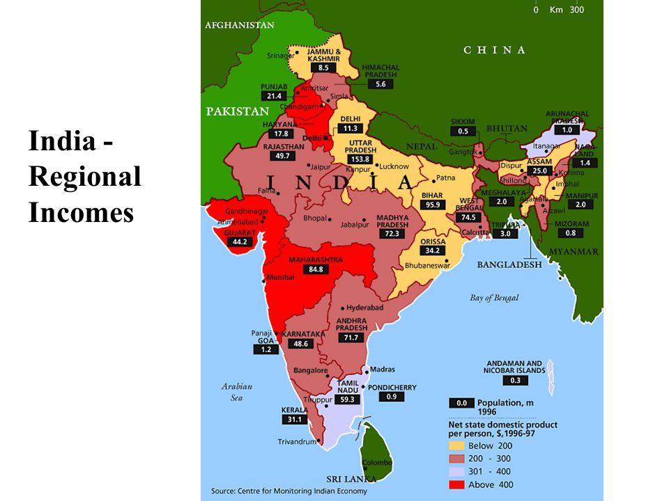 India - Regional Incomes
