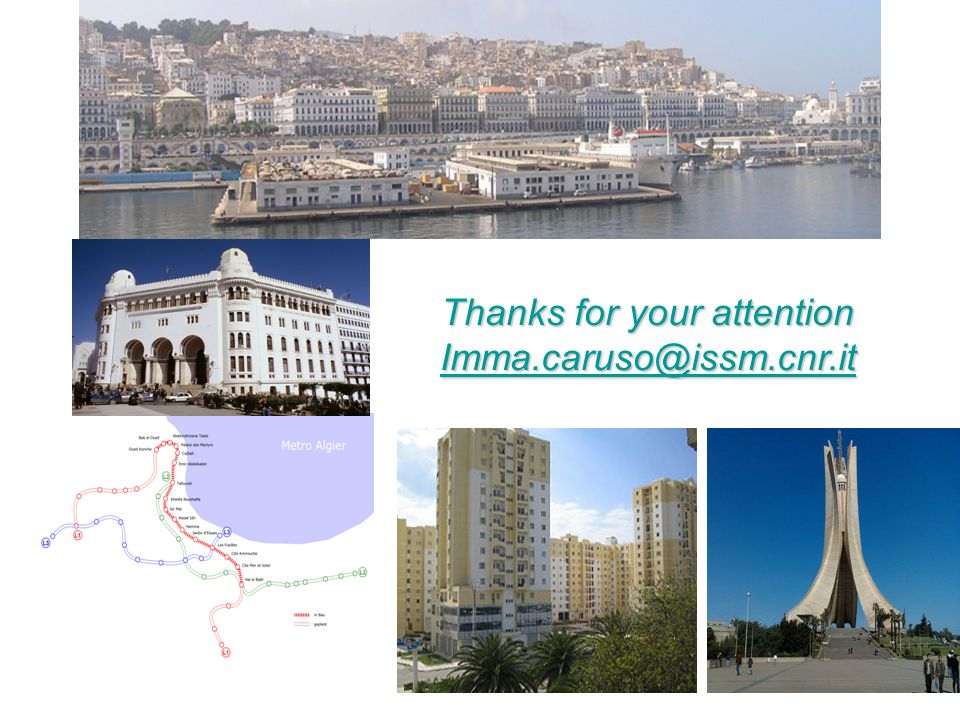 Thanks for your attention Imma.caruso@issm.cnr.it