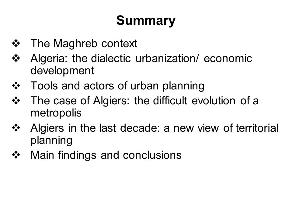 The Maghreb context at the beginning of 1990  continuous demographic growth  an accelerated rate of urbanization  effects on social and political levels  population distribution across the territory emphasizes the difference between the littoral and inner areas Littoral Pop.