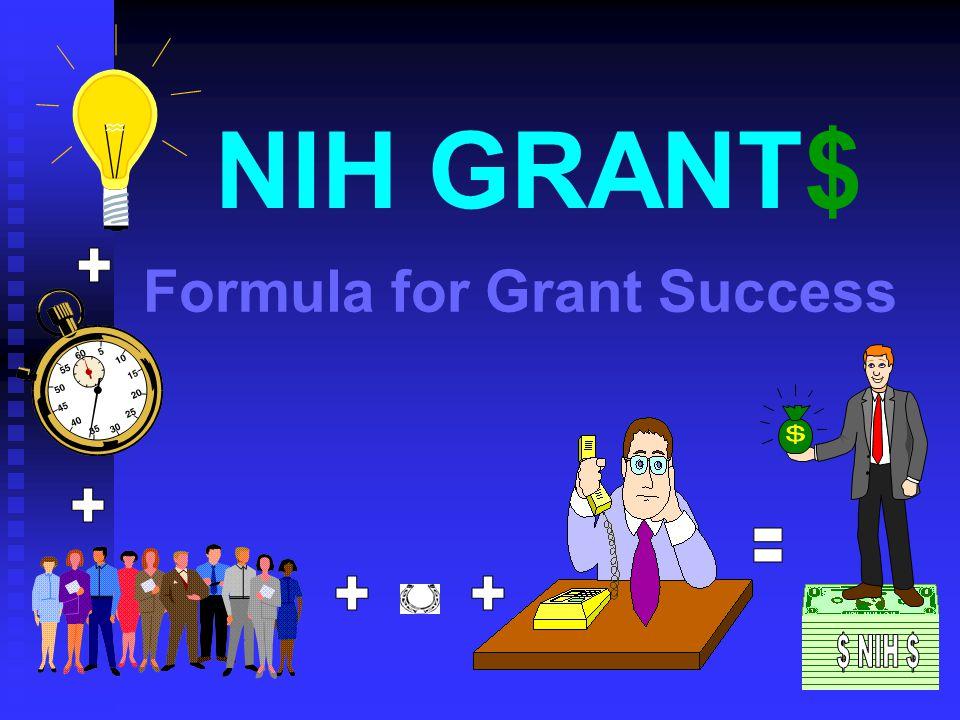 Formula for Grant Success NIH GRANT$