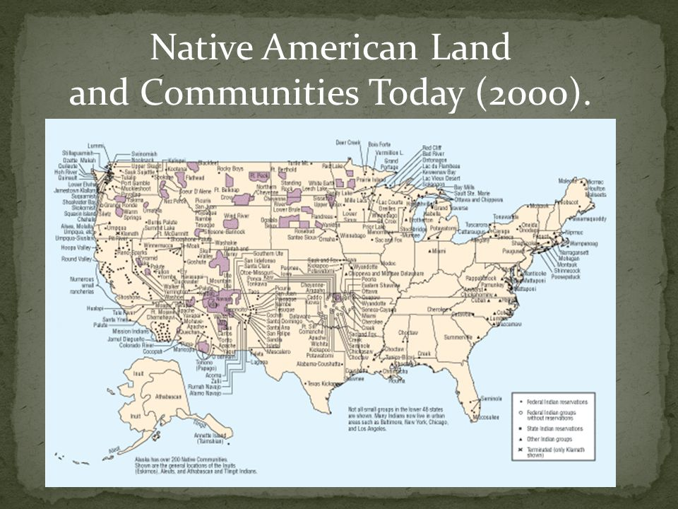 Native American Land and Communities Today (2000).