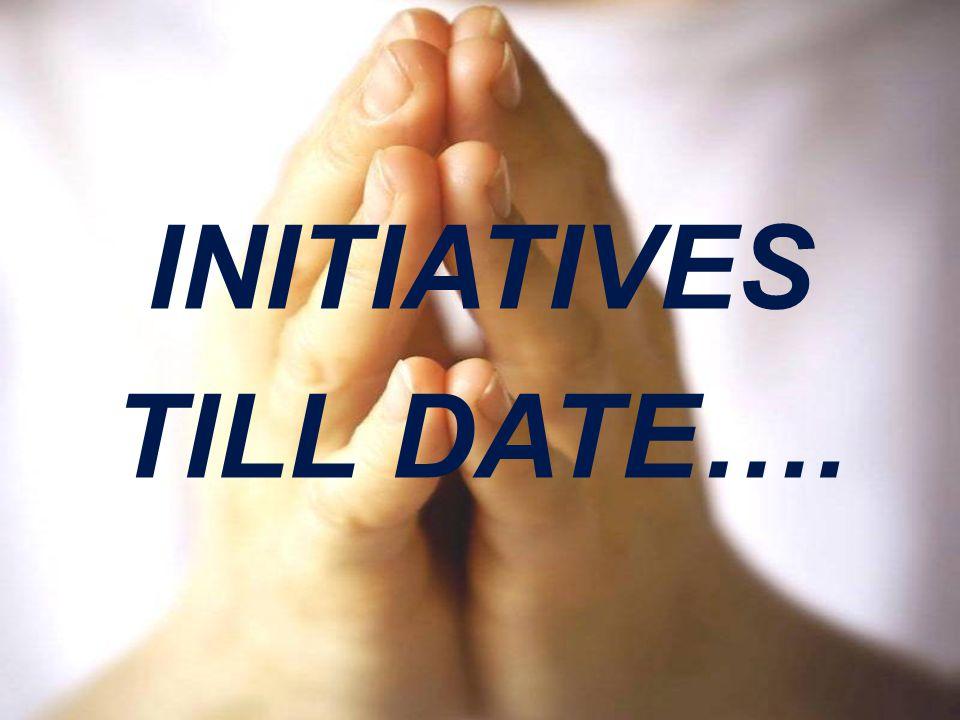 INITIATIVES TILL DATE….