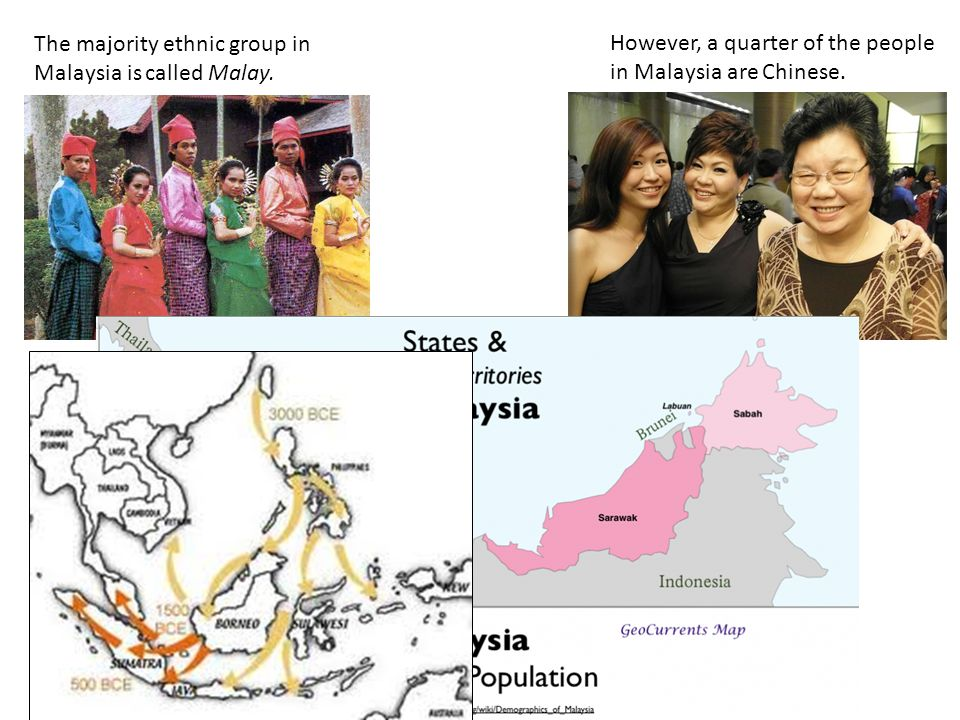The majority ethnic group in Malaysia is called Malay.