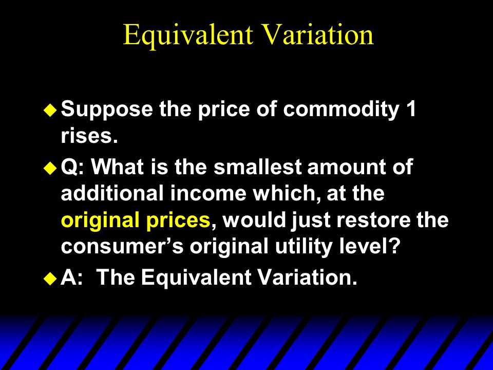  Suppose the price of commodity 1 rises.