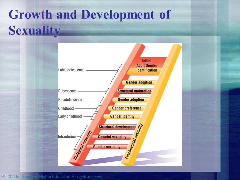 © 2011 McGraw-Hill Higher Education. All rights reserved. Growth and Development of Sexuality