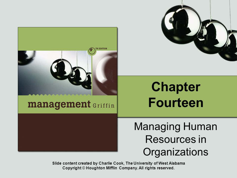 Slide content created by Charlie Cook, The University of West Alabama Copyright © Houghton Mifflin Company. All rights reserved. Chapter Fourteen Mana