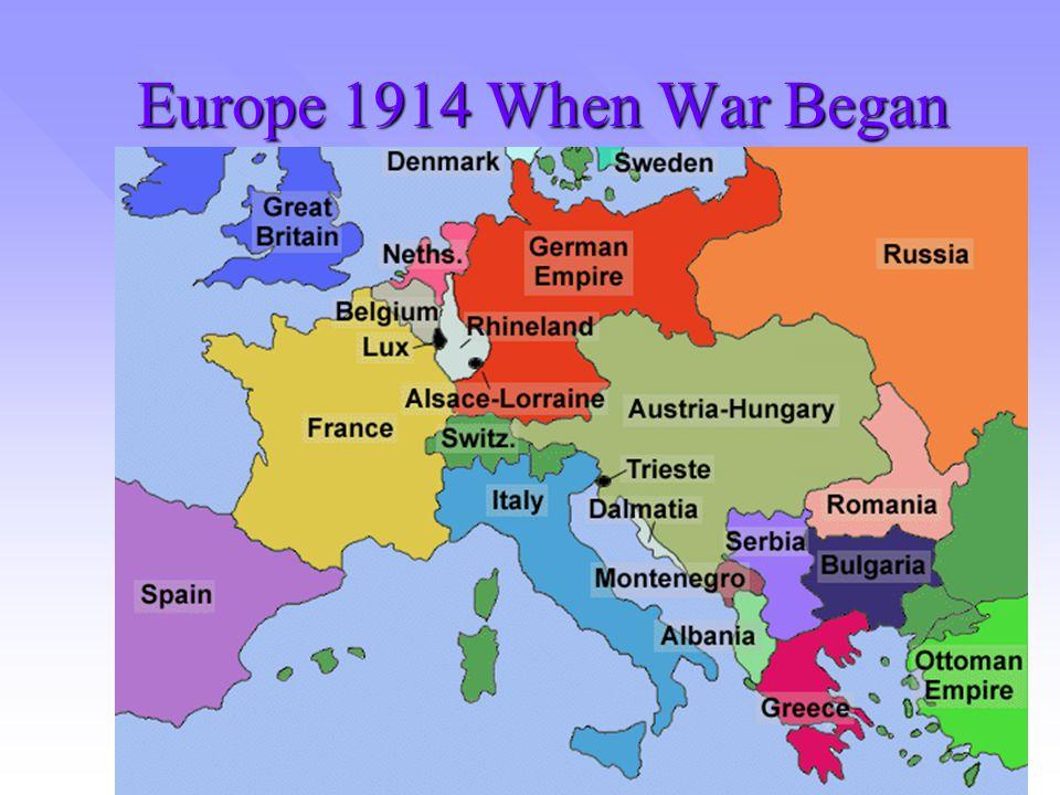 Europe 1914 When War Began