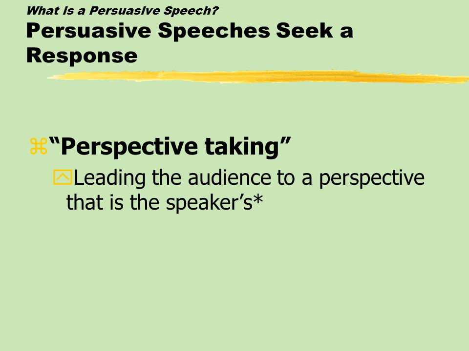 What is a Persuasive Speech.