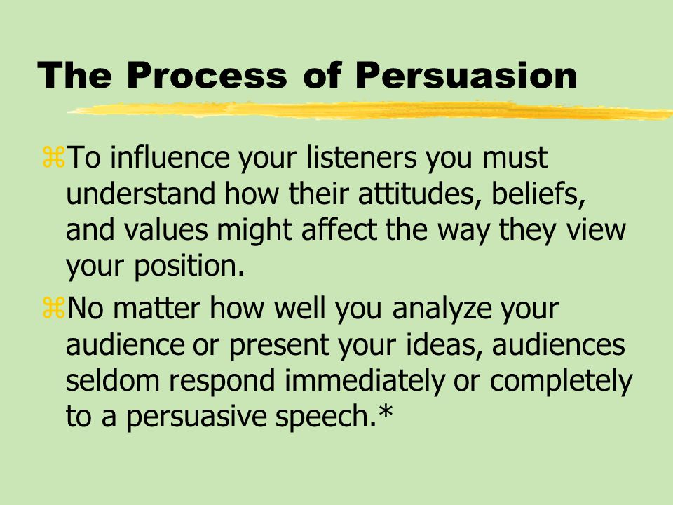 Contemporary Persuasive Appeals: Motivating Listeners through Speaker Credibility zAudiences who perceive a speaker as trustworthy regard the communication as more credible.*