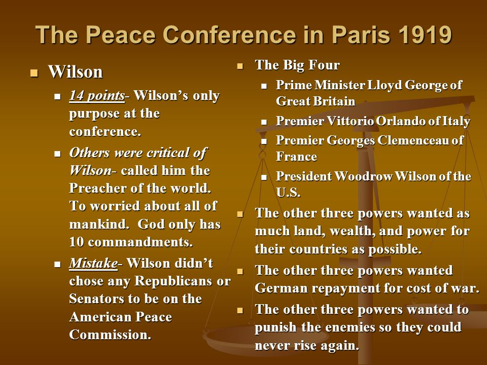 The Fourteen Points What was President Wilson's Fourteen Points plan for peace.