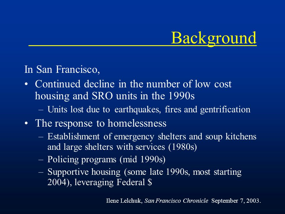 Objectives We have studied HIV and TB in the homeless and marginally housed in San Francisco from 1990 to 2003.