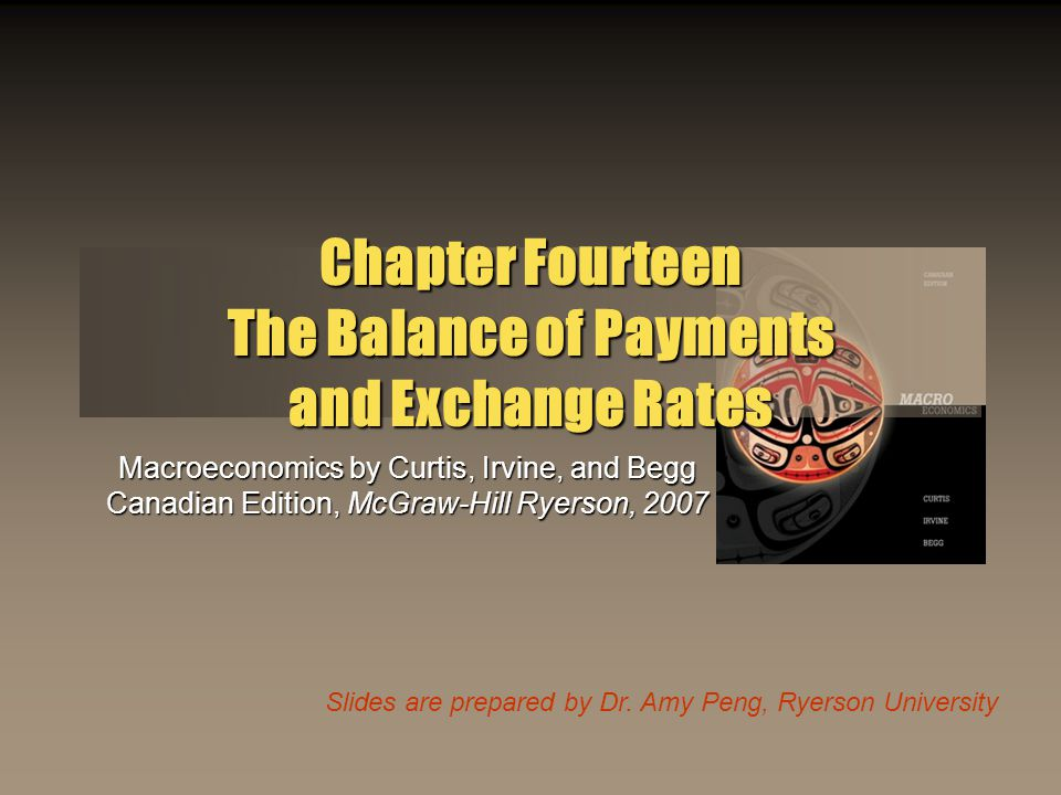 ©2007 McGraw-Hill Ryerson Ltd.Chapter 142 Learning Outcomes This chapter explains: The balance of payments accounts The determinants of the current account flows in the balance of payments The determinants of the capital account flows in the balance of payments The foreign exchange market and different exchange rate regimes The role for international policy co-ordination The European monetary system and the euro