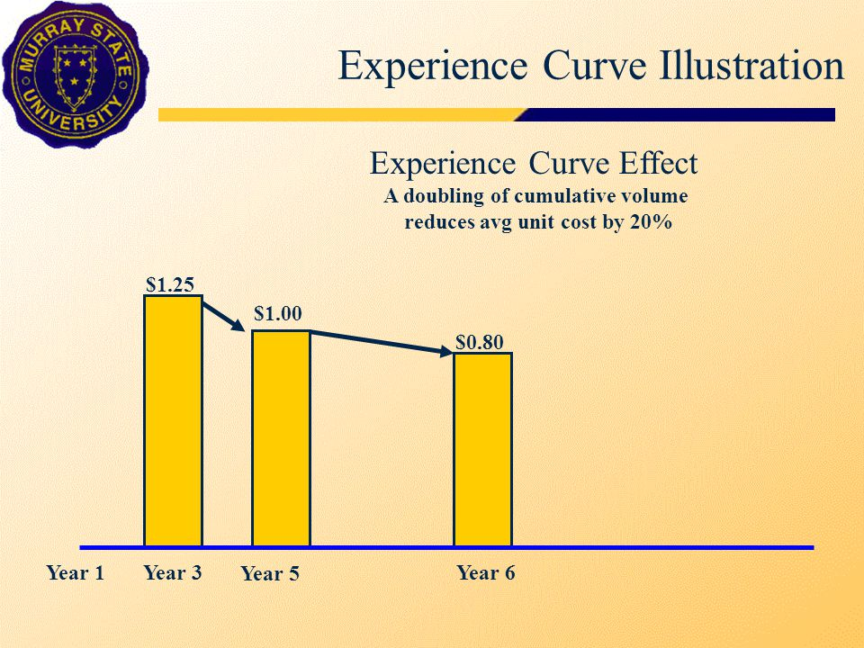 Experience Curve Illustration $1.00 $0.80 Jan 1Dec 31 $0.90 Avg Price Effect Margin = 40% RoS $1.67 $1.50 Cost Effect Year 6
