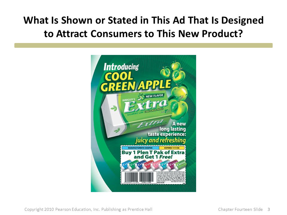 What Is Shown or Stated in This Ad That Is Designed to Attract Consumers to This New Product.