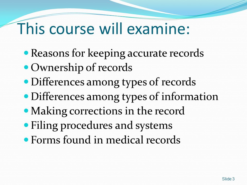 Retention and Destruction Medicare and Medicaid patient records must be kept for at least 6 years.