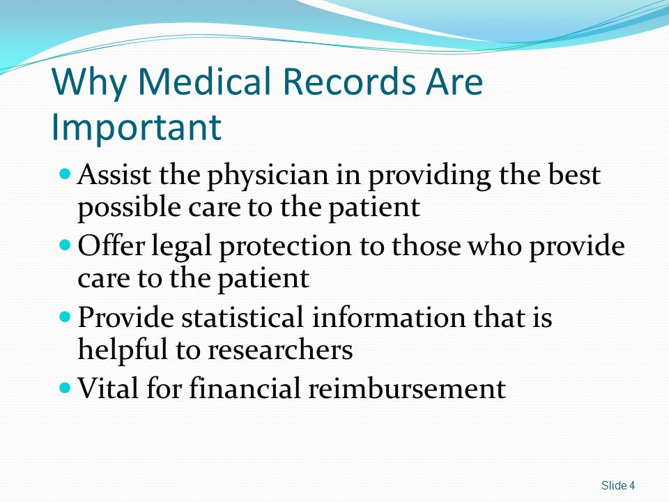 Releasing Medical Record Information Requests must be made in writing for release of records.