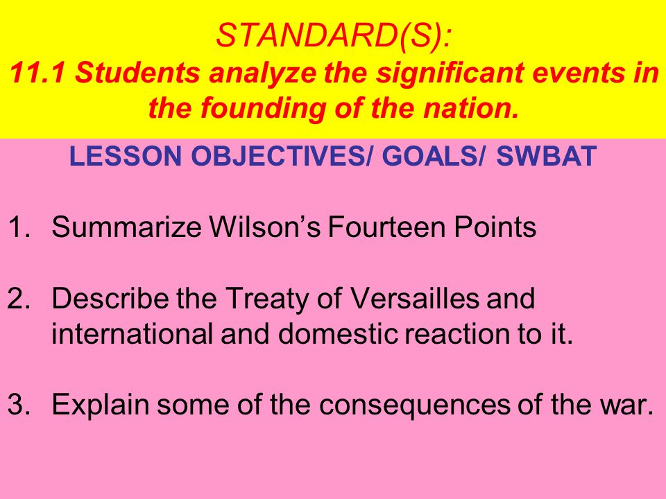NEXT 4 SECTION continued Debating the Treaty of Versailles Debate over the League of Nations Some think League threatens U.S.