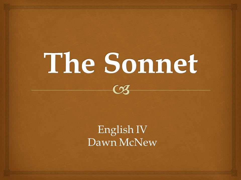English IV Dawn McNew