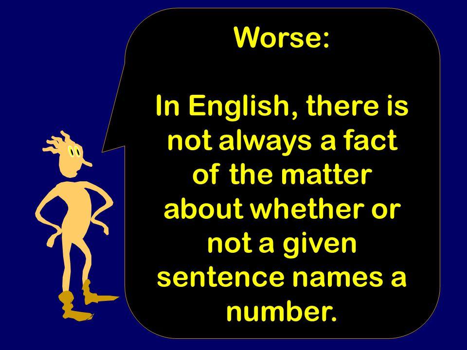 As you loop through sentences, you will meet the Berry sentence.