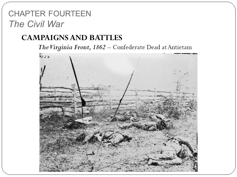 CHAPTER FOURTEEN The Civil War CAMPAIGNS AND BATTLES The Virginia Front, 1862 – Confederate Dead at Antietam