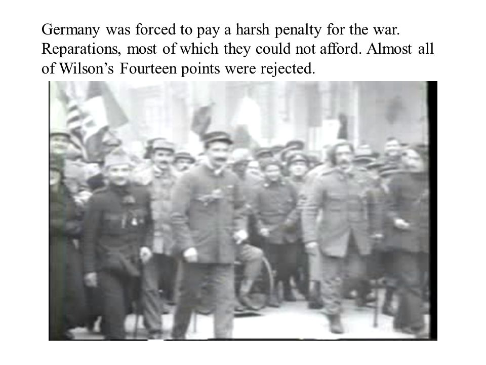 Germany was forced to pay a harsh penalty for the war.