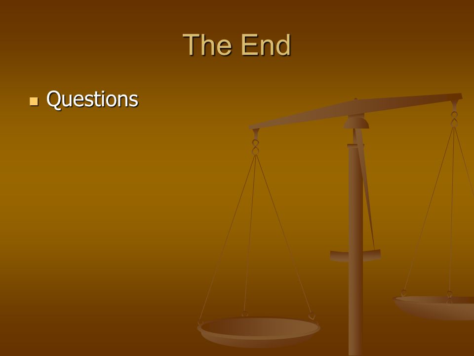 The End Questions Questions