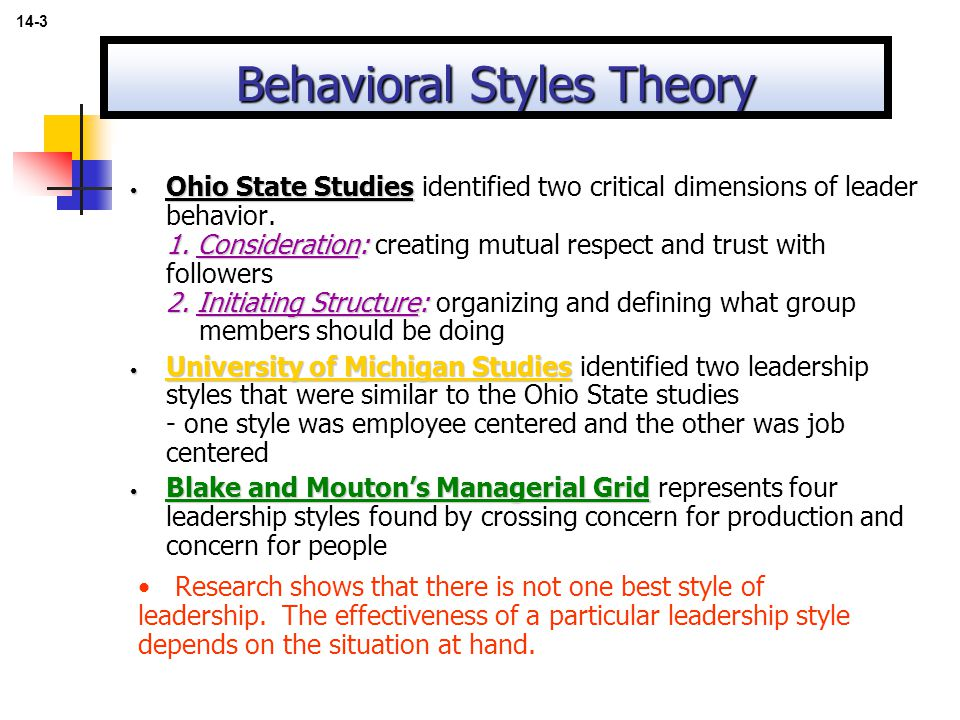 14-5 Figure 14-1 Situational Control High Control Situations Moderate Control Situations Low Control Situations Leader-member relations Task Structure Position Power Good Good Good High High High Strong Weak Strong Good Poor Poor Low High High Weak Strong Strong Poor Low Strong Weak SituationI II IIIIV V VIVII VIII Optimal Leadership Style Task Motivated Leadership Relationship Motivated Leadership Task Motivated Leadership Representation of Fiedler's Contingency Model