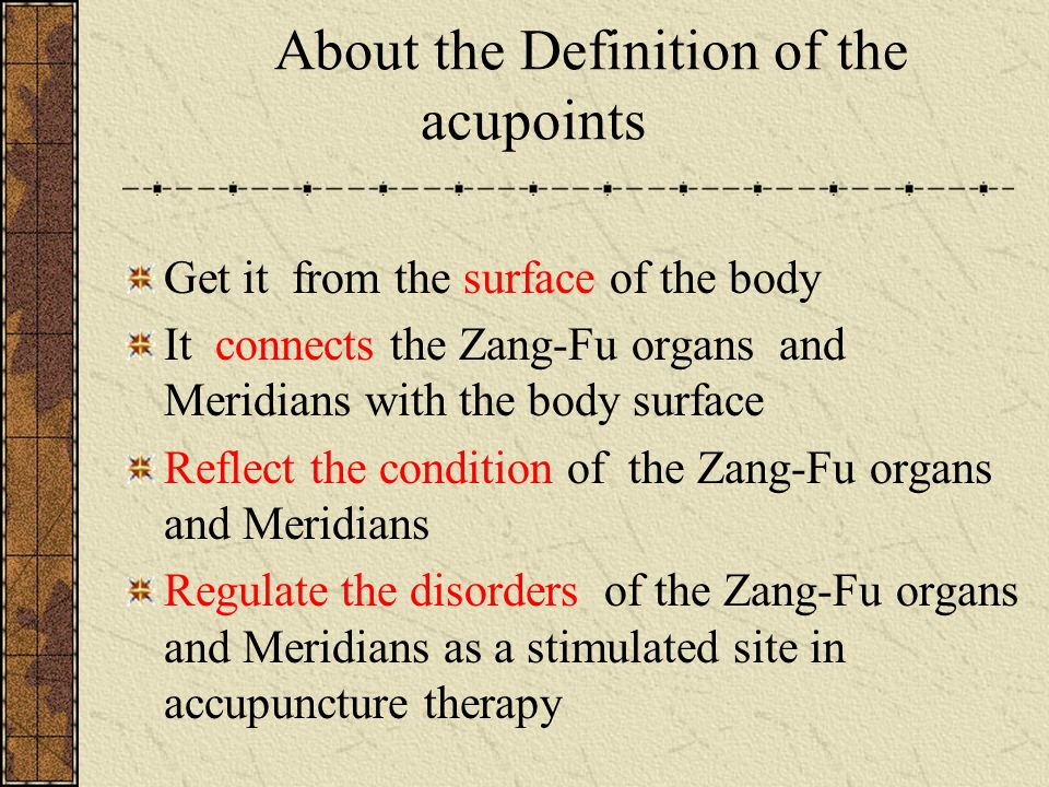 Yuan-Source acupoints 1.definition: the regions where the primary qi of the viscera flows by and retains located around the wrists and ankles reflect the pathological changes of the viscera.