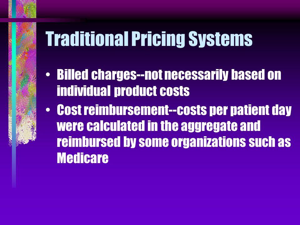 Answer Prior to the implementation of cost accounting charges were not based on costs.