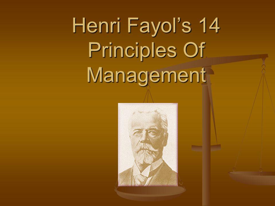 Henri Fayol's 14 Principles Of Management