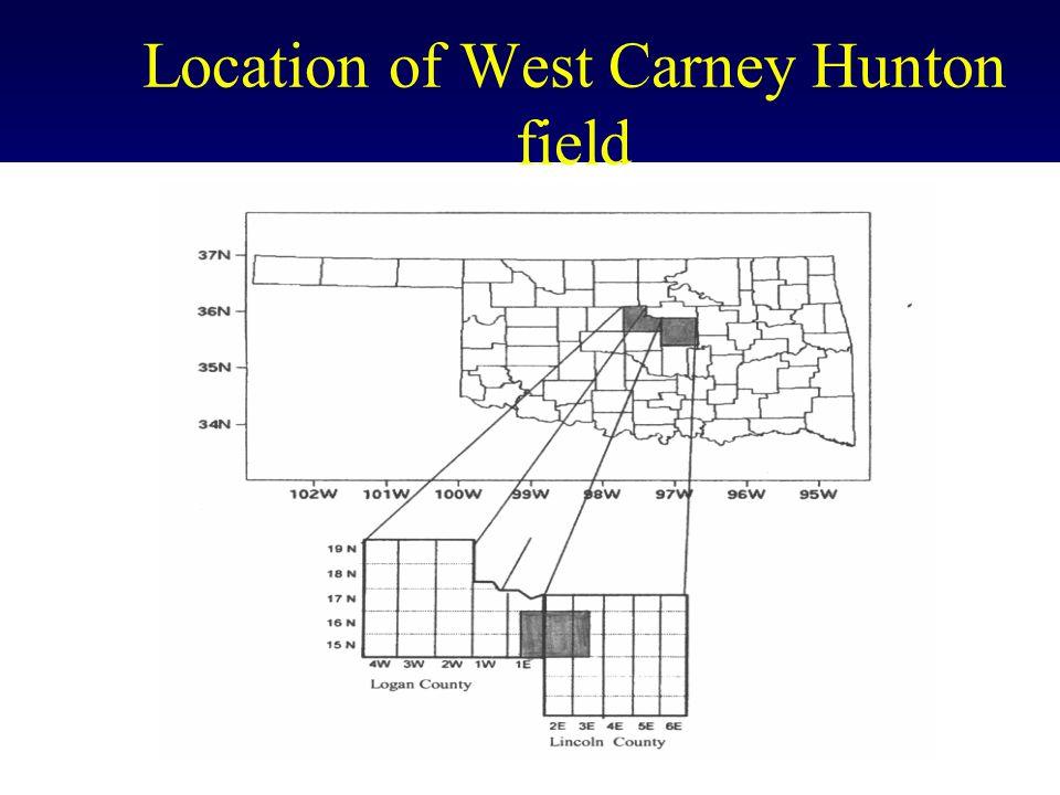 Lease Map of the West Carney Hunton field