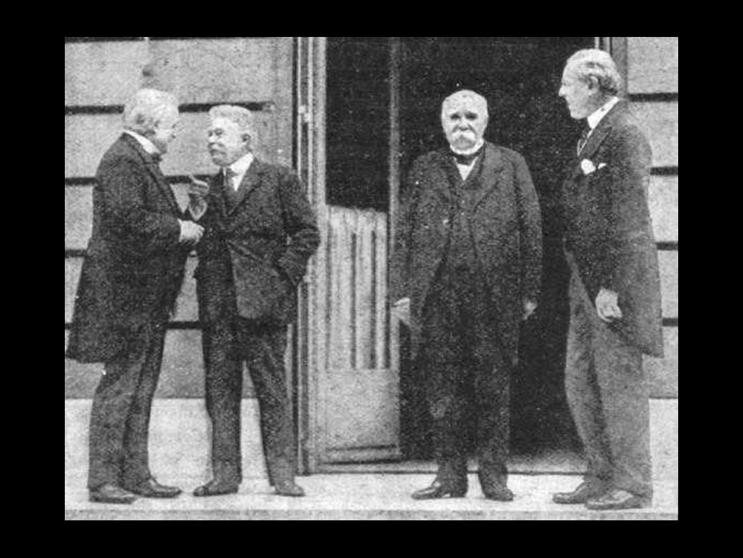 Big Three Britain - David Lloyd-George France - Georges Clemenceau (the Tiger) USA - Woodrow Wilson Italy - Vittorio Orlando
