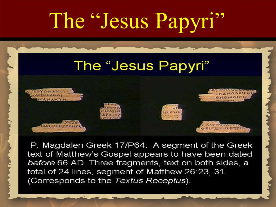 The Jesus Papyri