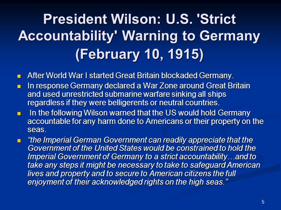 5 President Wilson: U.S.