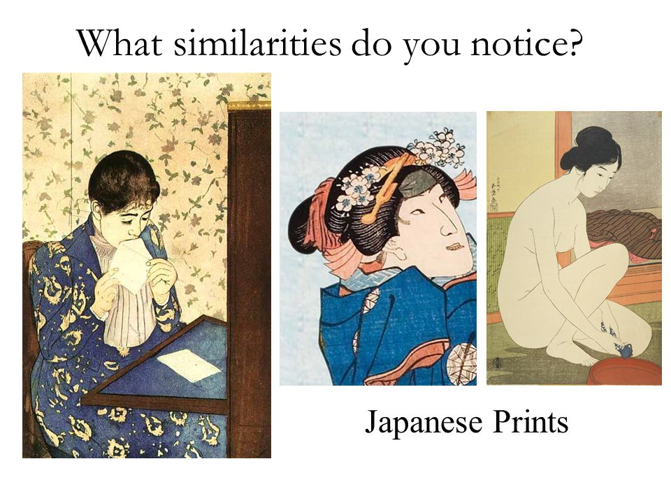 What similarities do you notice Japanese Prints