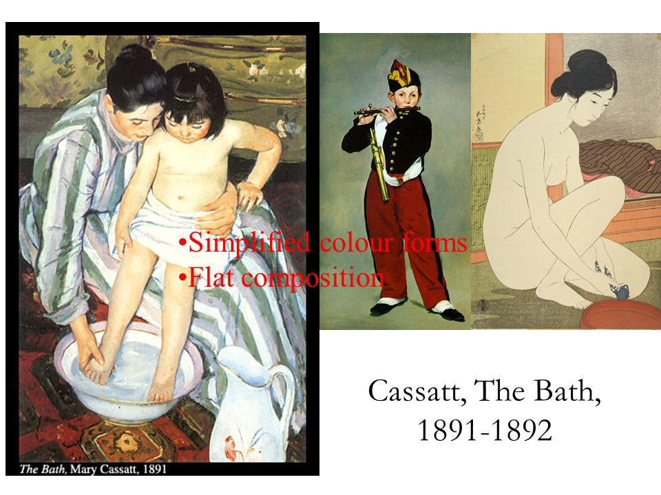 Cassatt, The Bath, 1891-1892 Simplified colour forms Flat composition