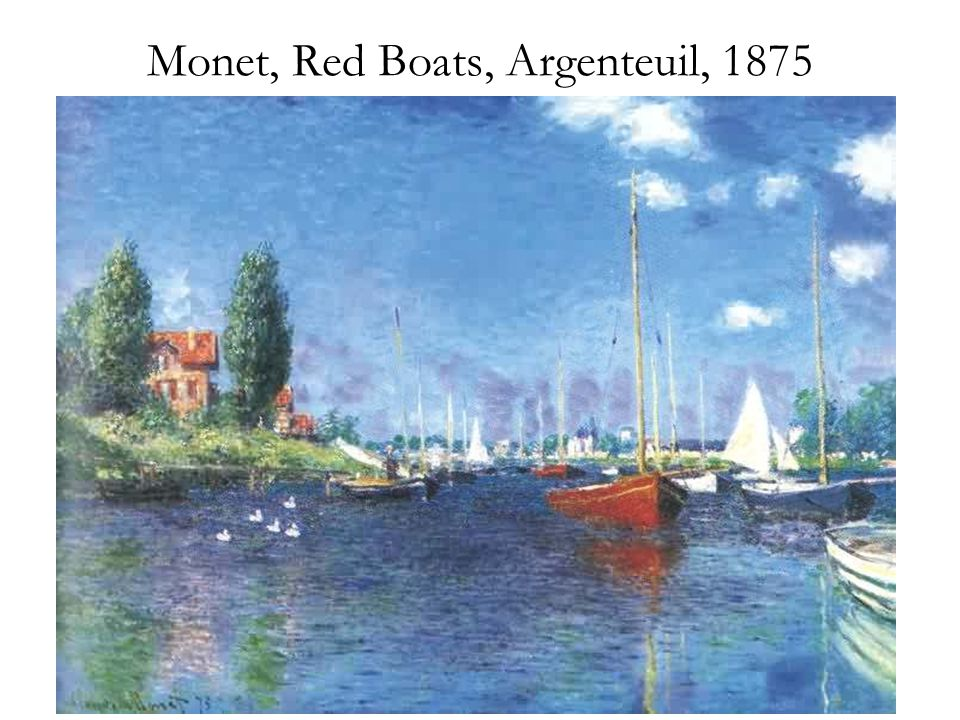 Monet, Red Boats, Argenteuil, 1875