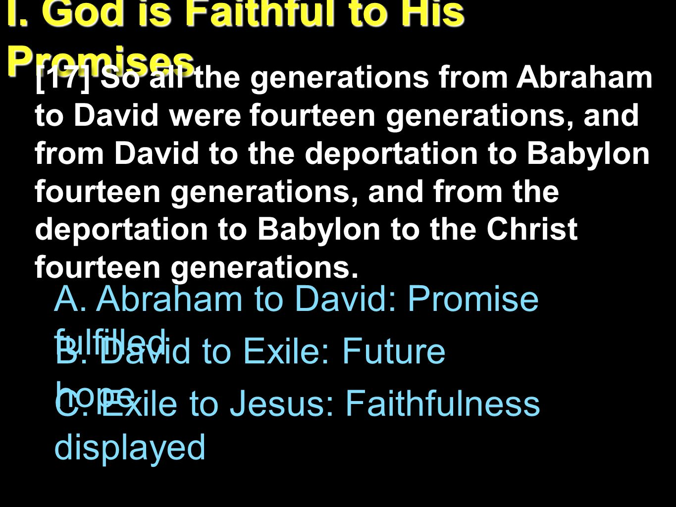 Joshua 21:45 Not one word of all the good promises that the LORD had made to the house of Israel had failed; all came to pass.