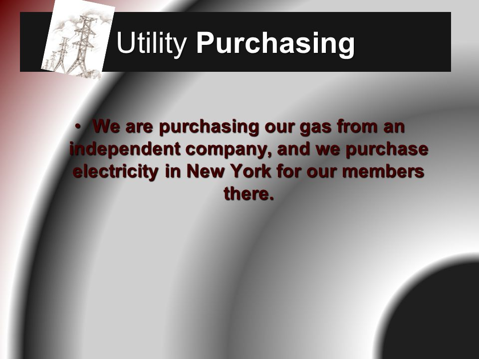 We have held conferences on Energy and other issues that concern organizations.
