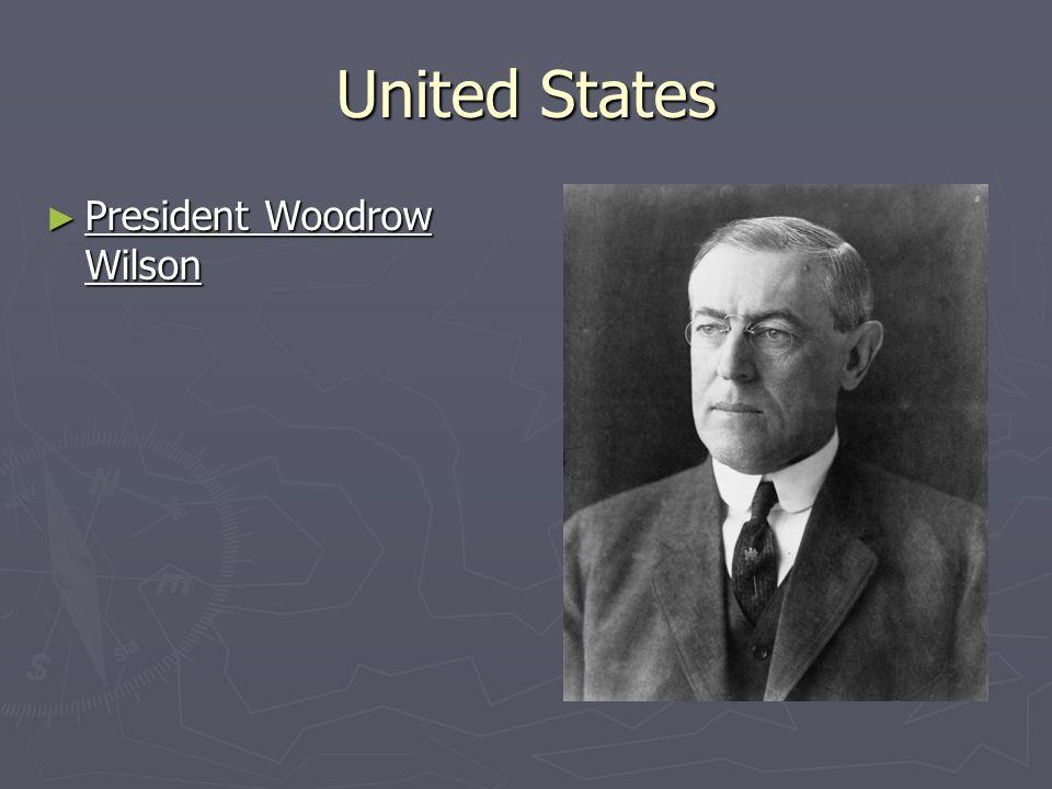 United States ► President Woodrow Wilson