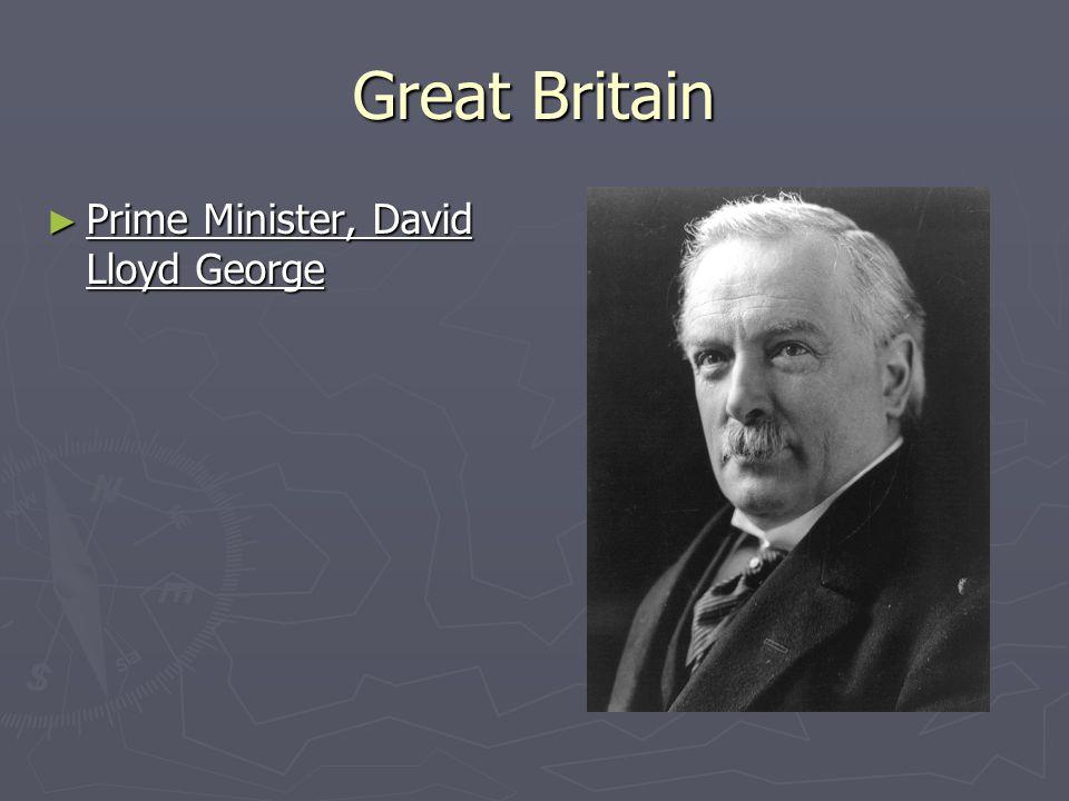 Great Britain ► Prime Minister, David Lloyd George