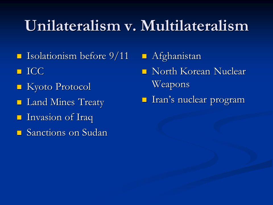 Unilateralism v.