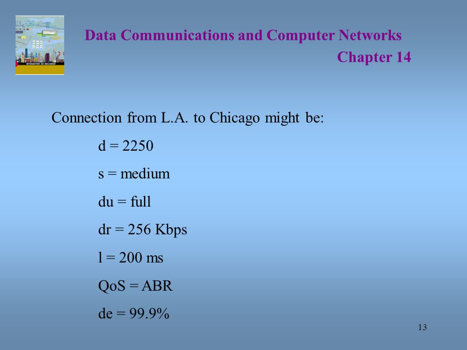 13 Data Communications and Computer Networks Chapter 14 Connection from L.A.