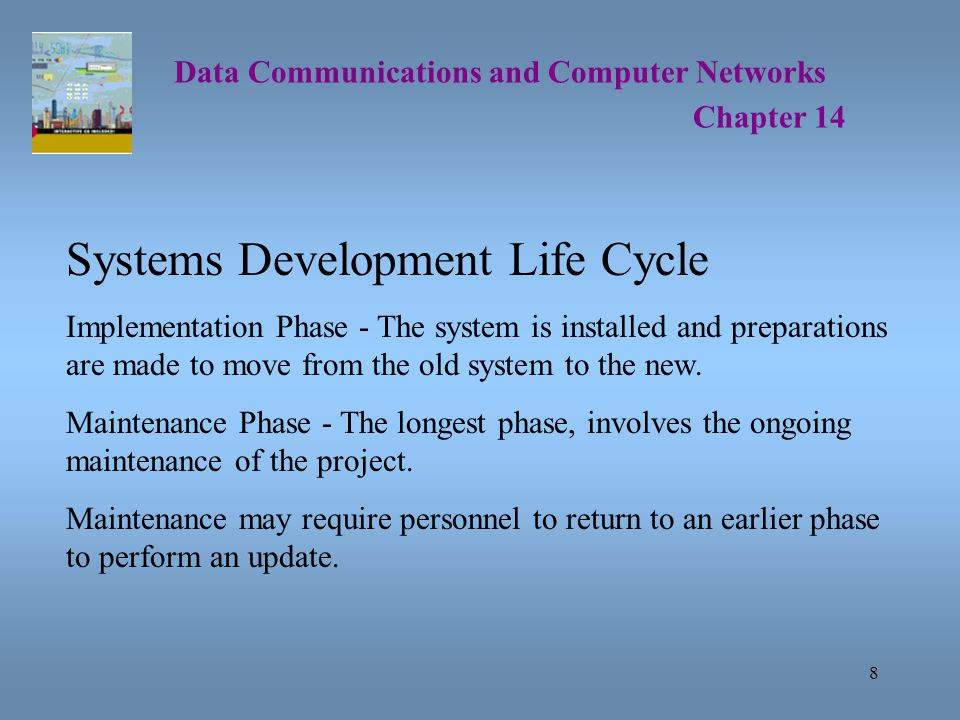 29 Data Communications and Computer Networks Chapter 14 Creating a Baseline To perform a baseline study, you should: List all network applications, including the number, type and utilization level.