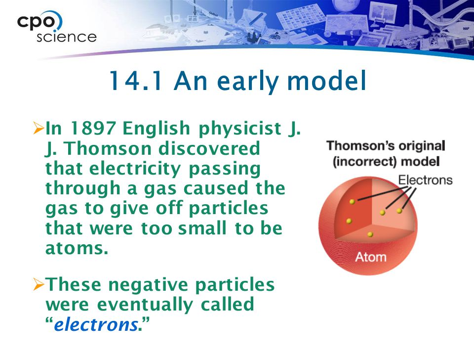 14.1 The nuclear model  In 1911, Ernest Rutherford, Hans Geiger, and Ernest Marsden did a clever experiment to test Thomson's model.